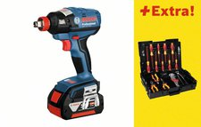 Bosch GDX 18 V-EC Professional 2 x 4,0 Ah + 31-tlg. Wiha-Werkzeug-Set (0 615 990 H4V)