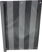 Angerer Balkonbespannung PE 90cm x 6m Blockstreifen grau