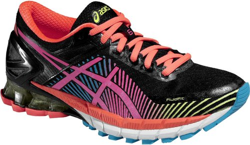 Asics Gel-Kinsei 6 Women black/hot pink/flash yellow