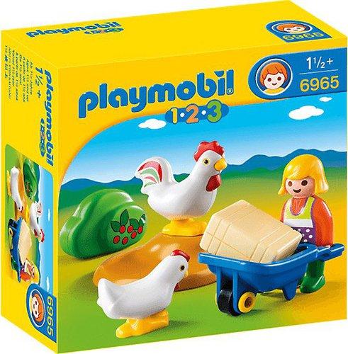 Playmobil 1.2.3 Bäuerin mit Hühnern (6965)