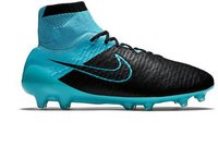 Nike Magista Obra Leather FG black/turquoise blue/blue lagoon