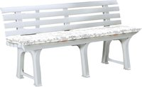 Best Freizeitmöbel Bregenz Bank 3-Sitzer weiß