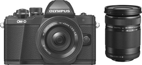 Olympus OM-D E-M10 Mark II Kit 14-42 mm EZ + 40-150 mm schwarz