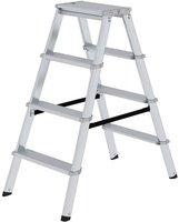 Steigtechnik Stufenstehleiter ML beidseitig 2 x 4 Stufen (11234)