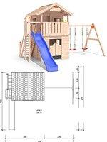 Isidor Holzbau Western Inn einfacher Schaukelanbau