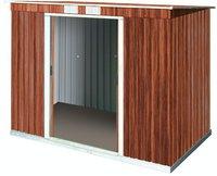 Tepro Pent Roof PD 8 x 4 Set Holzoptik (263 x 124 cm)