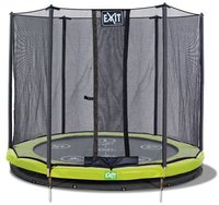 Exit Trampolin Twist Ground 244 cm mit Sicherheitsnetz rosa/grau