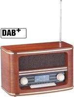 Auvisio Digitales Nostalgie-Stereo-Radio mit DAB+, FM und Wecker