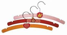 Hess Spielzeug Kleiderbügel 3er Set Prinzessin (13358)
