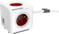 Allocacoc Powercube Extended USB Type F 1,5m rot