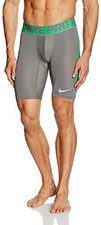 Nike Pro Cool Hypercool 6 Shorts tumbled grey / spring leaf / white