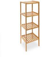 Relaxdays Bambus Badregal 4 Ablageflächen (10013497)