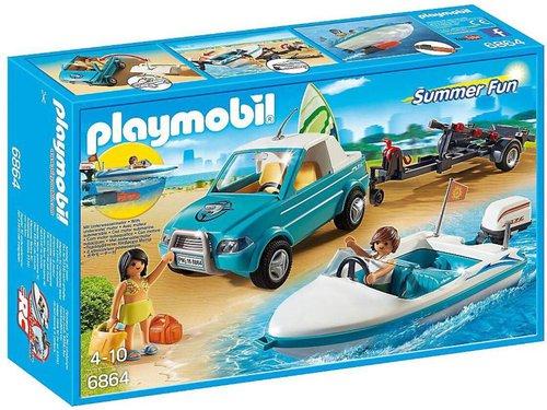 Playmobil Summer Fun Surfer-Pickup mit Speedboat (6864)