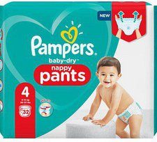 Pampers Baby Dry Pants Junior Maxi Größe 4 (8-15 kg)