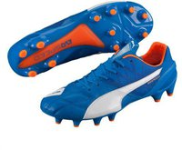 Puma evoSPEED 1.4 LTH FG electric blue lemonade/white/orange clown fish