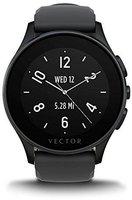 Vector Luna schwarz mit Silikonarmband schwarz