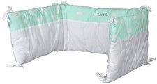 Childhome Nestchen Bett Kopfschutz 35x170 Snoozy Clouds Mint Blue (CCBPSCMB)