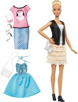 Mattel Barbie Fashionistas Leather Ruffles & Fashions