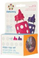 lifefactory Sippy Caps 2er Set  Raspberry/ Royal Purple