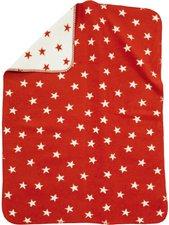 Alvi Baumwolldecke UV 50+ Sterne Rot
