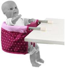 Bayer Chic Puppen-Tischsitz Dots Brombeere