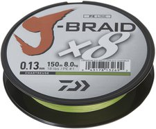 Daiwa J-Braid X8 chartreuse 300m 0,16mm