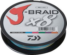 Daiwa J-Braid X8 multi color 300m 0,16mm