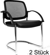Topstar Open Chair 30 mit Armlehnen (schwarz)
