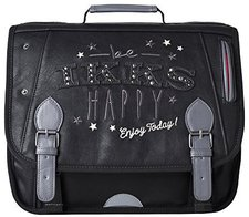 IKKS Girl's Be Happy School Bag Anthracite (38cm)
