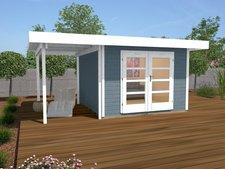 weka Holzbau Designhaus 126 A Gr.2 grau (500 x 300 cm)