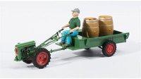 Schuco Holder EDII mit Anhänger, Fahrerfigur und Weinfässer (450895200)