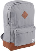 Herschel Heritage Backpack white noise/black synthetic leather
