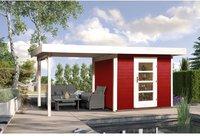 weka Holzbau Designhaus 172 B Gr. 1 schwedenrot (530 x 239 cm)