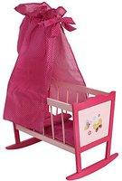 Bayer Chic Puppenwiege mit Himmel Papilio pink