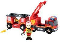Brio Feuerwehr-Leiterfahrzeug mit Licht & Sound (33811)