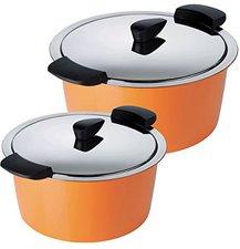 Kuhn Rikon 30826 Hotpan Topf-Set 2-teilig orange
