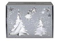 BriConti GmbH Satin Adventskalender Weiß/Silber