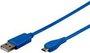 Goobay micro-USB Sync-/Ladekabel (1m) blau
