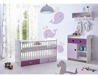 Ticaa Cubo Babyzimmer 3-tlg. lila