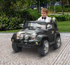 HomCom Kinder Elektroauto Jeep Schwarz