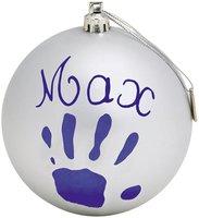 Baby Art Weihnachtskugel silber