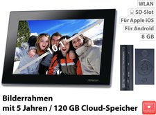"Somikon Digitaler WLAN Bilderrahmen 10,1 ""-IPS-Touchscreen"