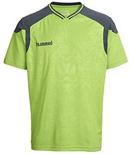 Hummel Sirius SS V-Neck Jersey green flash dark slate