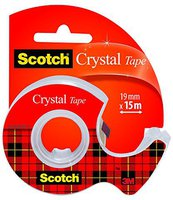 Scotch Handabroller inklusive 1 Rolle Crystal 19mm x 15m hochtransparent (6-1915D)