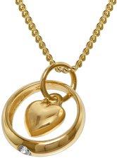 Trendor Gold-Taufring mit Herz-Einhänger (78261)