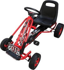 vidaXL Go Kart 96 x 60 x 56 cm rot