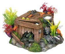 Nobby Aqua Ornaments Kiste mit Korallen mit Pflanzen (28387)