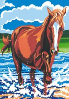 MAMMUT Malen nach Zahlen Pferd im Wasser