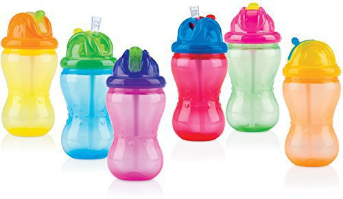 Nuby Soft Flip-It Trinkhalmflasche