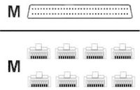 Cisco Systems Kabel/Lead Octal DB60>8xRJ45 Male 3m